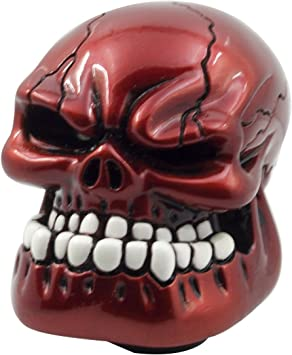 No Teeth Red Cap Skeleton 5//6 Speed Manual Gear Shift Knob Handle Shifter Lever