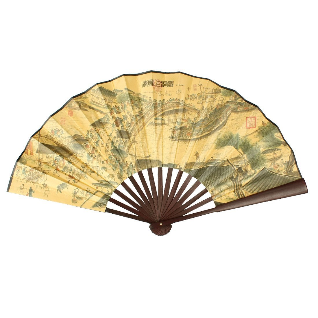 Amazon.com: uxcell Chinese Poem Pattern Paper Bamboo Large Folding ...
