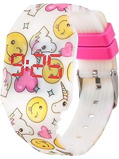 Kiddus Reloj LED Digital Chica, Infantil y Joven, de Pulsera, Correa de Suave