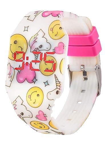 Reloj LED Digital Chica se Ilumina en la Oscuridad, Infantil y Joven, de Pulsera