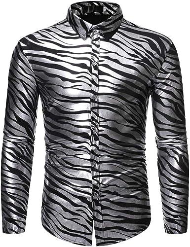 SO-buts Hombres Otoño Invierno Nuevo Estilo Personalidad De La Moda Camisa De Manga Larga Estampada En Caliente Blusa De Manga Larga Impresa Camisas Tops: Amazon.es: Ropa y accesorios
