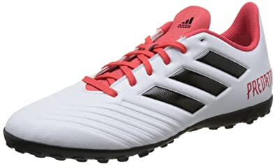 adidas Predator Tango 18.4 in, Chaussures de Football Homme, Noir (Core noir/FTWR blanc/Solar rouge), 43 1/3 EU