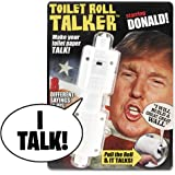 Donald Trump Talking Toilet Paper Roll - Makes Regular Toilet Paper Talk with Trump's REAL VOICE - 8 Hilarious Sayings - Funny Gag Gift for Holidays - Hilarious Bathroom Joke