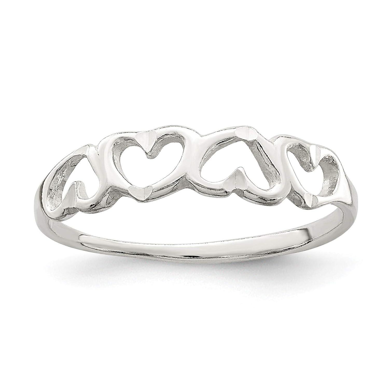 Bonyak Jewelry Sterling Silver Heart Ring Size 8