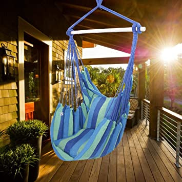 Amazon Com Oncloud Hanging Rope Hammock Chair Swing Seat For Yard