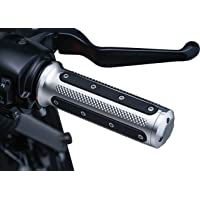 Kuryakyn 6120 Motorcycle Handlebar Accessory: Heavy Industry Grips with End Caps for Dual Cable Throttle Control: 1982…