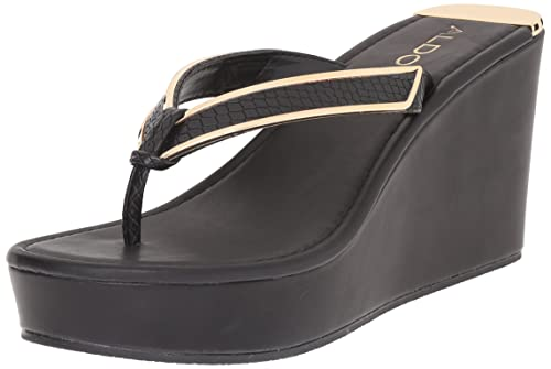 a61cdad62f Aldo Women's JEROASIEN Wedge Sandal, Black Synthetic, 6 B US: Amazon ...