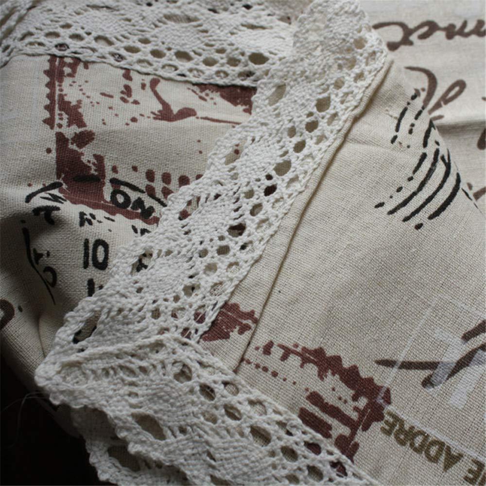 160 cm FMM Tovaglia in cotone e lino Torre in ferro in stile europeo con telo di copertura panno universale marrone 140