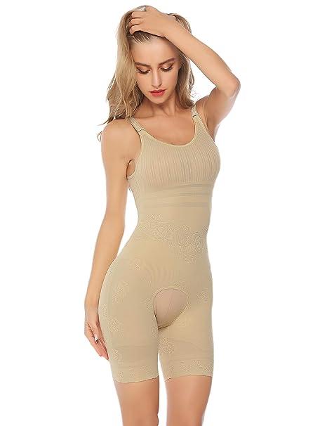ca28ea3b41ae43 Hawiton Body Donna Intimo Modellante Corsetto Elastico Contenitivo  Snellente Bodysuit Bustino Pancia Shaper Controllo Shapewear Perdita di  Peso: Amazon.it: ...