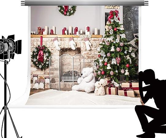 Kate Hintergrund 3x3m Fotohintergrund Weihnachten Weiß Elektronik