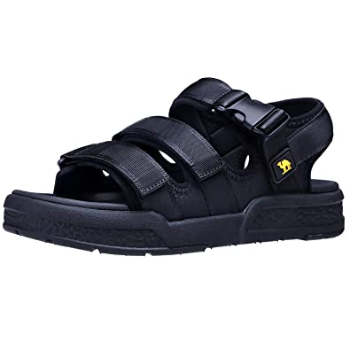 Friendly Camel Crown Mens Summer Strap Open Toe Sandals Athletic Casual Beach Sandals For Men's Shoes