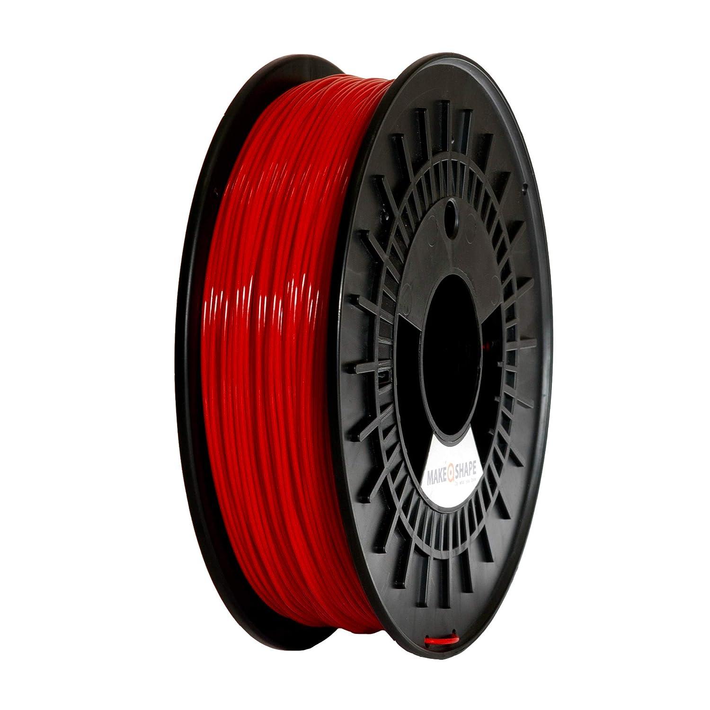 Make a Shape - Filamento PLA rojo para impresoras 3D 1,75 mm ...