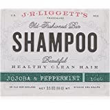 J.R. Liggett Bar Shampoo, Jojoba and Peppermint, 3.5 Ounce