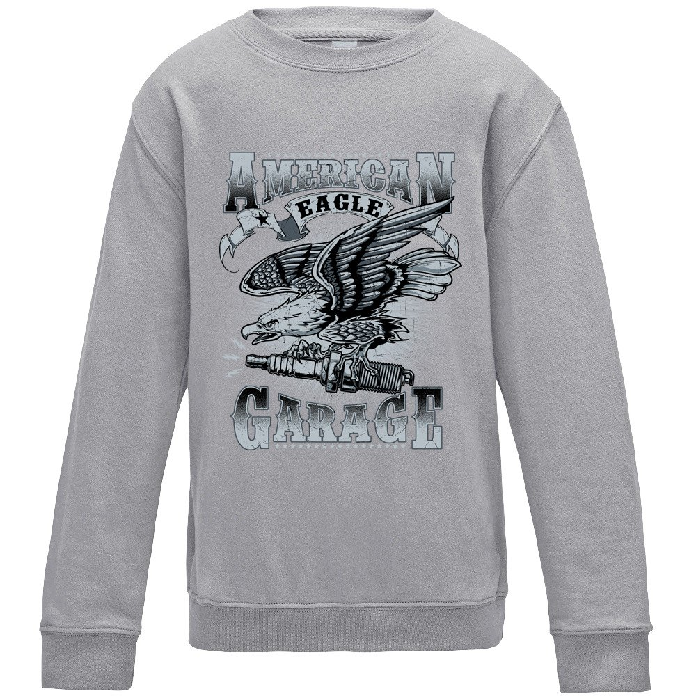 American Eagle Garage Sweater - Grey - Medium: Amazon.es: Ropa y ...