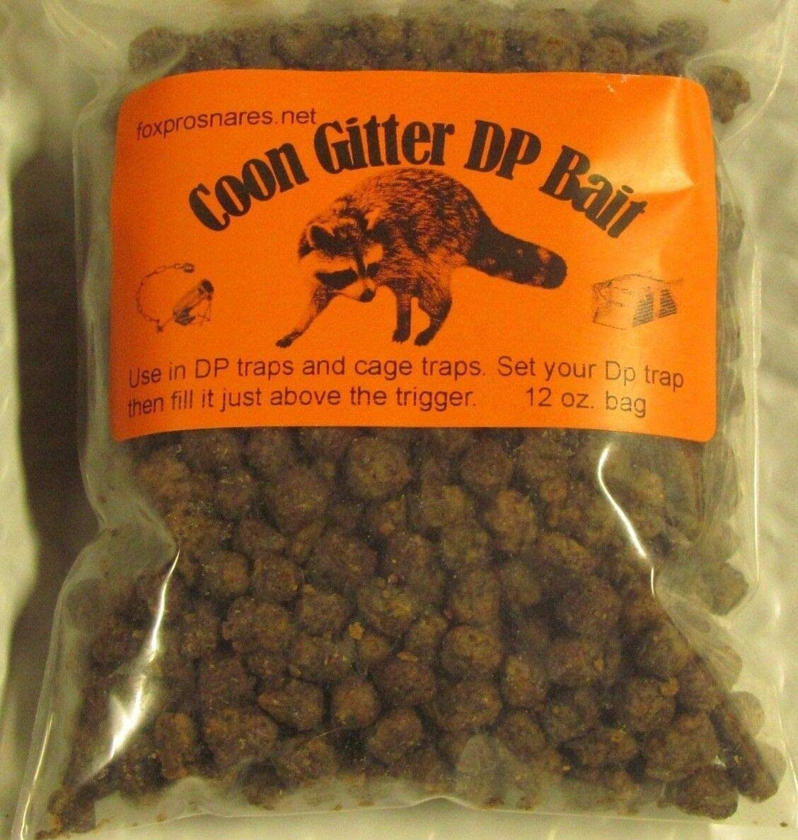 Coon Gitter Bait Works Good in Dp & cage Traps Nuisance, (12 oz. Bag)