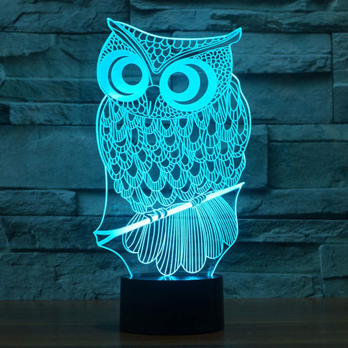 Decorative Owl Colour Changing LED Acrylic Light
