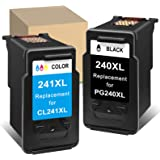 ATOPolyjet Remanufactured Ink Cartridge Replacement for Canon PG-240XL CL-241XL 240 XL 241 XL Ink for Pixma MG3620 MG3120 MG3