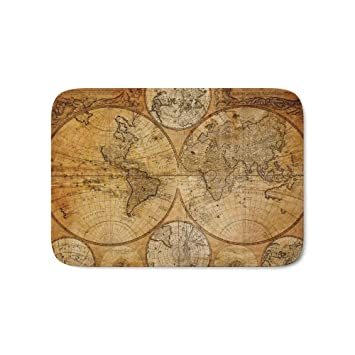 Amazon.com: Society6 Vintage Map Bath Mat 17\