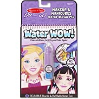 Melissa & Doug On the Go Water Wow! Reusable Water-Reveal Activity Pad - Makeup and Manicures