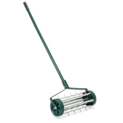 Etonnant Best Choice Products 18in Rolling Lawn Aerator Garden Grass Soil Care  W/Steel Handle,