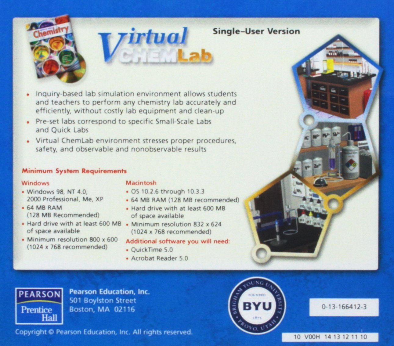 Prentice Hall Virtual Chemlab Cd-rom: PEARSON PRENTICE HALL ...