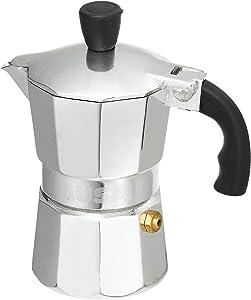 Imusa Aluminum Espresso Stovetop 1-cup Coffeemaker, Silver