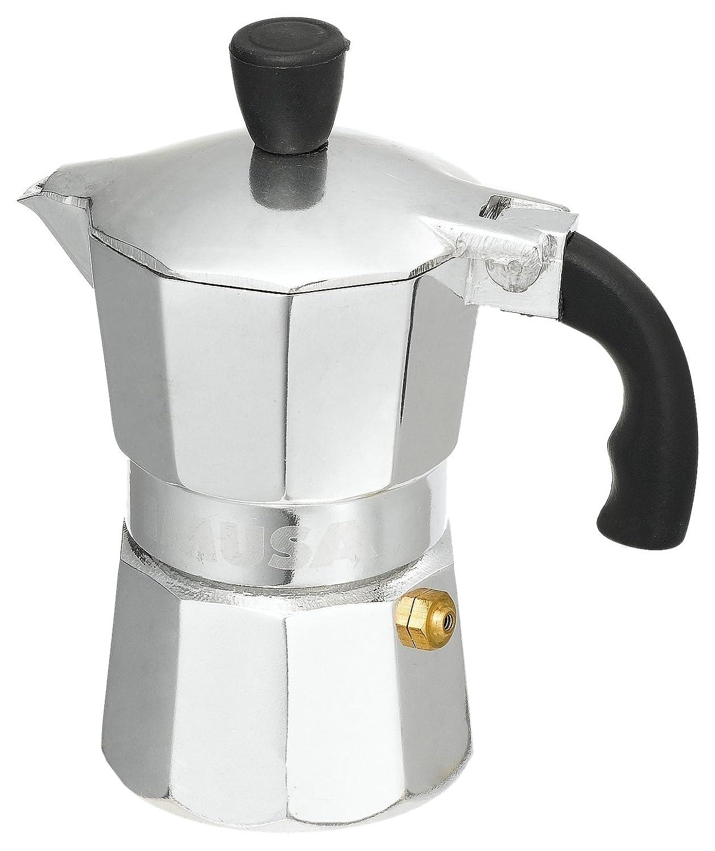 IMUSA USA B120-41V Aluminum Espresso Stovetop Coffeemaker 1-cup, Silver