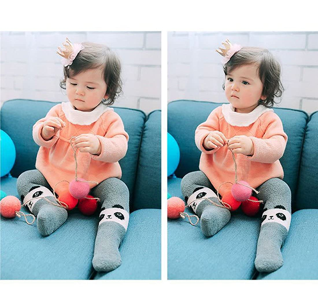 19cce302 ... Gaorui Baby Boy Girl Winter Warm Pants Velvet Inner Fleece Lined  Leggings Tights Cute Thick Stockings ...