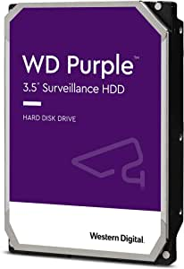 "Western Digital WD Purple 1TB 3.5"" Surveillance HDD 5400RPM 64MB SATA3 6Gb/s 110MB/s 180TBW 24x7 64 Cameras AV NVR DVR 1.5mil MTBF 3yrs"