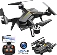 Foldable Drone with 1080P HD Camera for Adults and Kids - WiFi FPV RC Quadcopter for Beginners with Altitude Hold, Voice Con