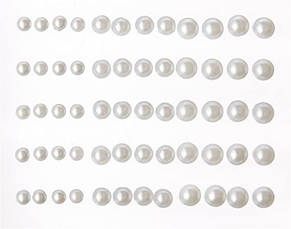 Kaisercraft Self-Adhesive Pearls 50-Pack Black