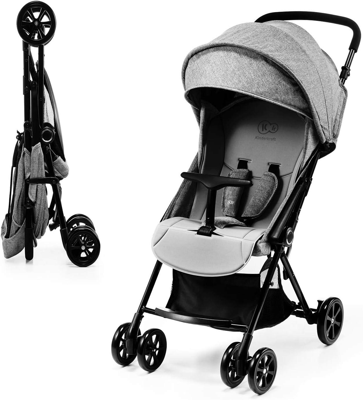 KK Kinderkraft Lite Up Cochecito de bebé, color gris