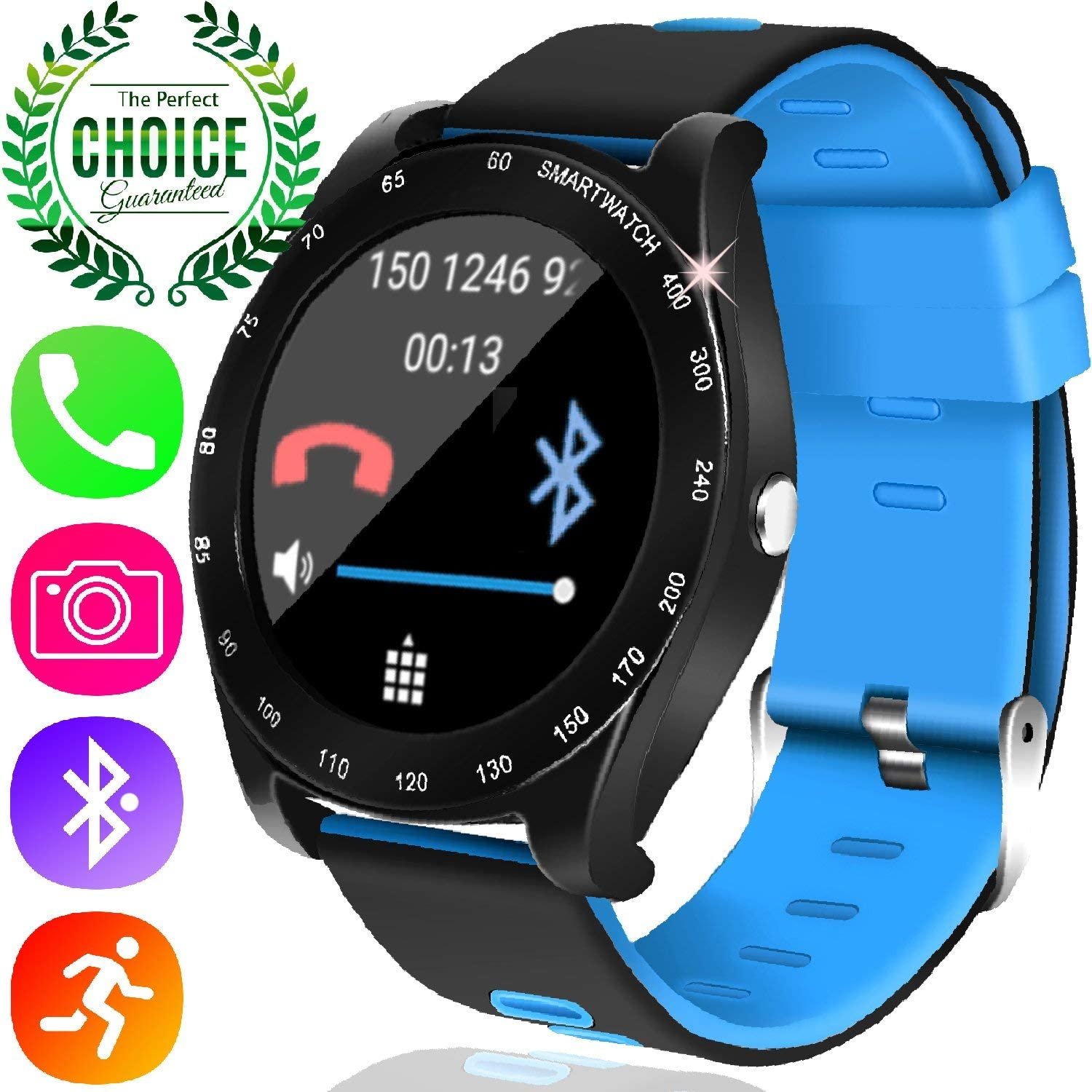 [2020 Launch] Smart Watch Android Phone - Fitness Tracker Smartwatch for Men Women with SIM Card Slot Pedometer Sleep Monitor Timer Camera Music ...