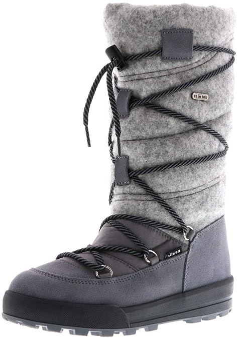Vista Damen Winterstiefel Snowboots grau: : Schuhe