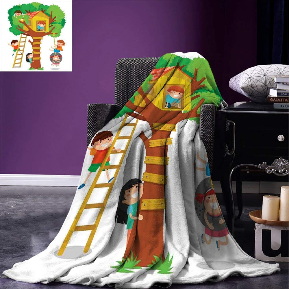color01 60 x36  SINOVAL Kids Warm Microfiber All Season Blanket colorful Cartoon Robot Collection Boys Nursery Theme Futuristic Fantastic Science Toys Print Artwork Image£¬Multicolor, Multicolor