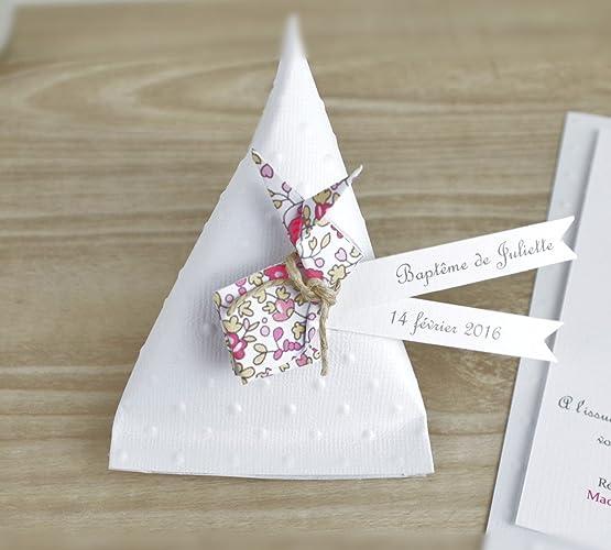 Boîte à Dragées Berlingot Lapin En Origami Liberty Eloise