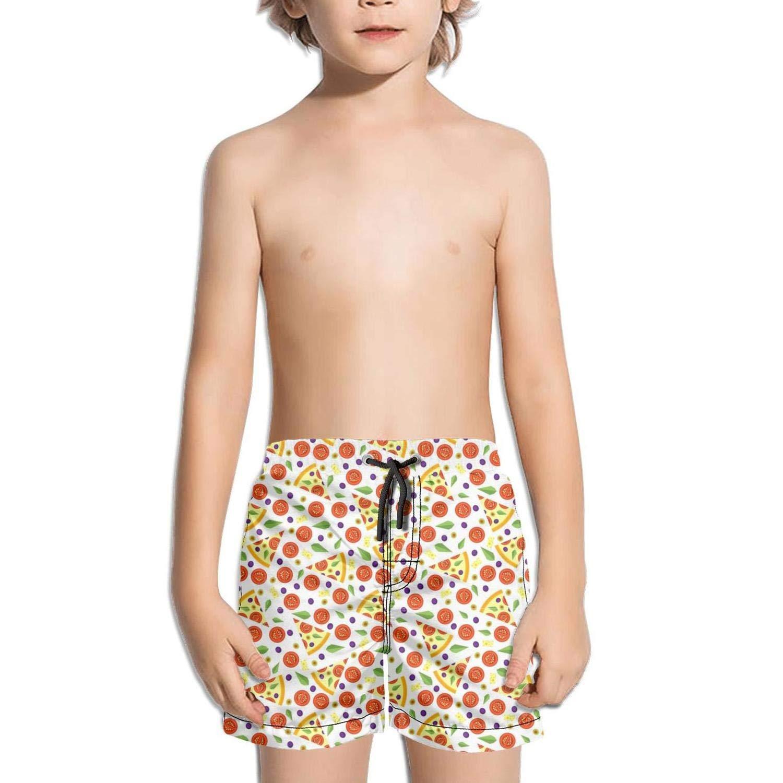Boys Board Shorts Purple Galaxy Space Pizza DJ Cat Quick Dry Bathing Suits Beach Board Shorts