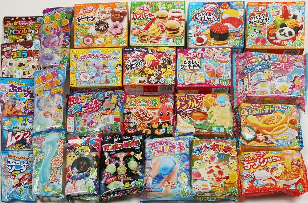 Kracie DIY Candy Gummy Making Kit Poppin' Cookin' 25 pcs Set 2016 April (Pudding Parfait,Hamburger,Bento...)