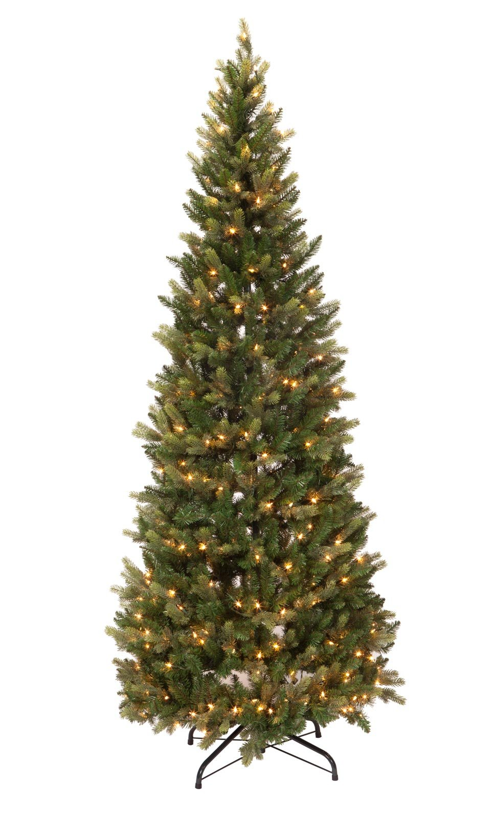 Fox Valley Traders 7 Foot Pre-Lit Noble Spruce Tree with ...