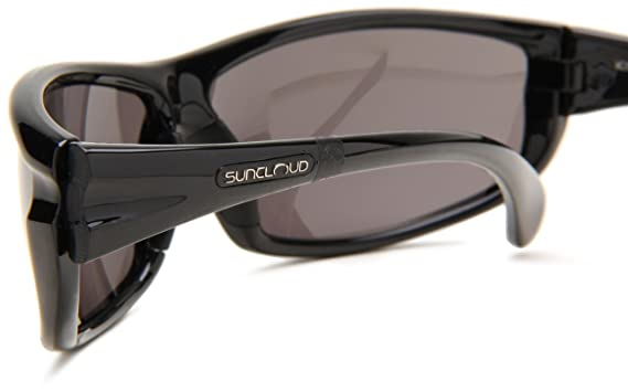 546b889dd9f Amazon.com  Suncloud Optics King Sunglasses (Black with Gray Polarized  Polycarbonate Lens)  Clothing