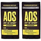 Art of Sport Men's Antiperspirant Deodorant (2-Pack) - Rise Scent - Antiperspirant for Men with Botanicals Matcha and Arrowro