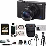 Sony Cyber-shot DSC-RX100 IV Digital Camera with Attachment Grip and 64GB SDXC Accessory Bundle