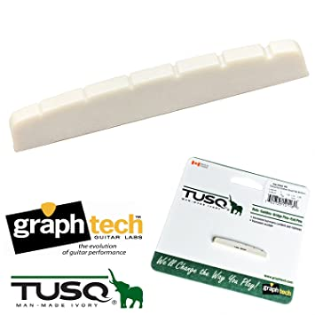 Graph Tech TUSQ Flat Bottom Slotted Nut for Fender Strat//Tele Guitar PQ-5010-00