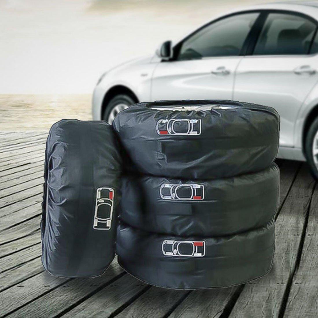 SHENGLI 4Pcs Cubiertas De Neumático De Repuesto 4X4 Ajustables13-22Inches Bolsas para Neumáticos: Amazon.es: Deportes y aire libre