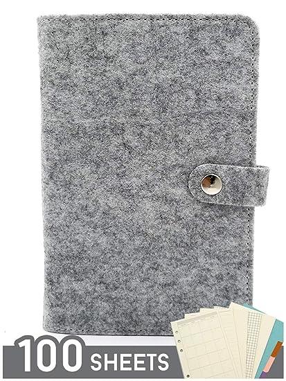 Amazon.com : (E&F) Total 100 Sheets - A6 Notebook Personal ...