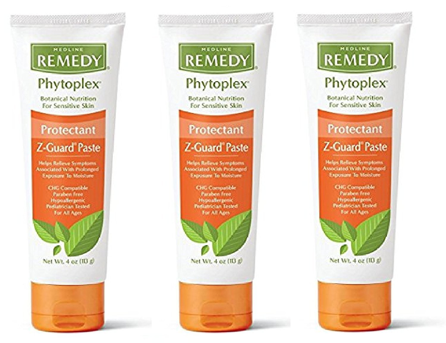 Medline Remedy Phytoplex Z-Guard Skin Protectant Paste, 4 Ounce, 3 Pack