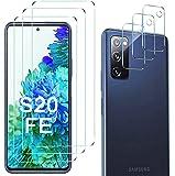 Luibor for Samsung Galaxy S20 FE Screen Protector[3 Pack]+ for Samsung Galaxy S20 FE Camera Lens Protector Anti…