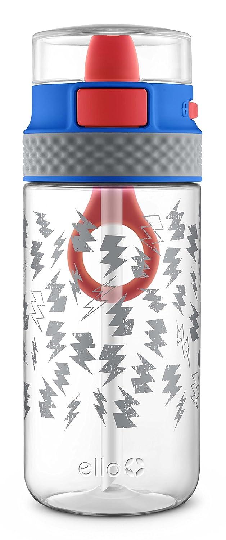 Ello (Lombardei Stratus Tritan Kunststoff Wasser Flasche, blau grau, 16 oz