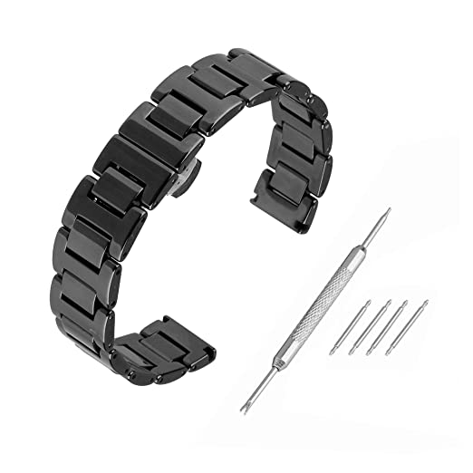 Beauty7 Kit de 14mm/16mm/18mm/20mm Cerámica Correas de Relojes para Regalo Unisex Herramientas para Relojes Mujeres Hombres Hebillas Pulsera Watchband Watch ...