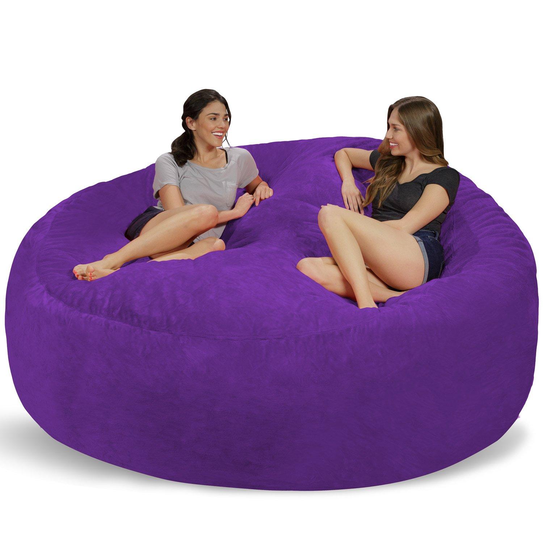 Amazon Chill Sack Bean Bags Huge Bean Bag 8 Purple Furry